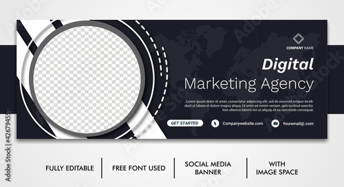Fotografía Corporate social media post template design, Template banner design for social m