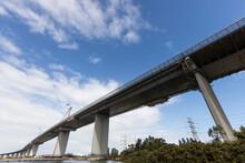 Westgate Bridge In Melbourne Australia With Flag At Half Mast Due To The Death Of Prince Philip, Duke Of Edinburgh.