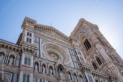 Fotomural Firenze, particolare della Cattedrale di Santa Maria del Fiore e del Campanile d