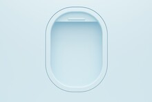 Airplane Light Window Template. Travel Concept. 3d Rendering