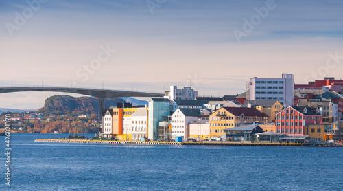 Photo Kristiansund landscape, coastal Norwegian town