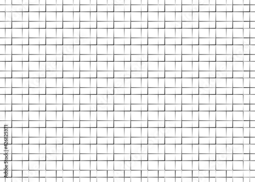 Grid. Black lines on a white background. Fotobehang