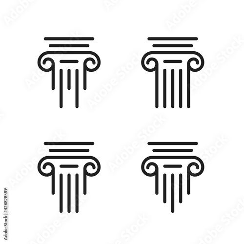 Fotografia Set of pillar icon vector design