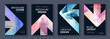 Modern triangle abstract A4 brochure colour cover with arrows template bundle set