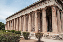 Ancient Historical Temple Of Hephaestus Greek Temple In Athens, Greece