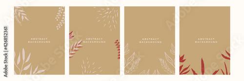 Fototapeta Invitation, menu, table number card design