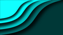 Abstract Blue Green Wave Background
