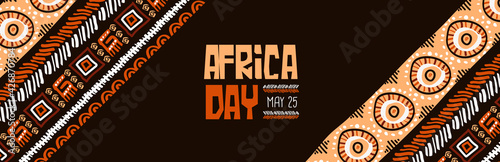 Photo Africa Day may 25 traditional tribal art banner