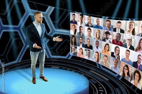 Fotografia Virtual Event Conference Or Convention