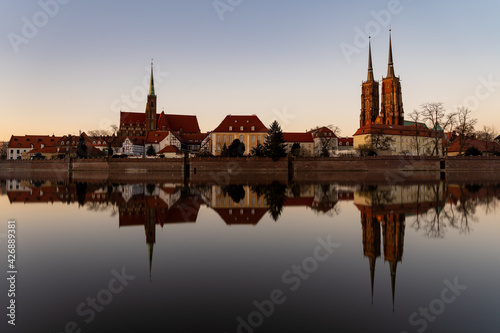 Fototapeta Wroclaw Poland - panorama of the historic part of the old town