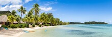 Tropical Beach Panorama In The South Seas