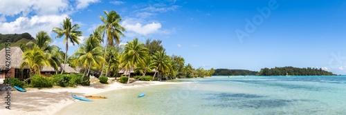 Tropical beach panorama in the South Seas