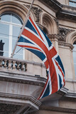 Buckingham Palace Union Flag flying at half-mast. tribute to Prince Philip