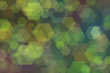 Abstract Green Background With Gradient Transitions And Light Spots.