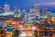 Tacoma, Washington, USA Cityscape Over Pacific Ave