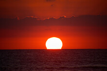 Sunset Over The Ocean In Santa Teresa, Costa Rica