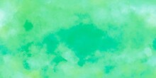 Abstract Illustration Green Blue Ocean Mix Color Cool Tone Watercolour Background Textures Design