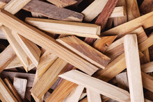 Leftover Wood Scraps From Home Interior Work