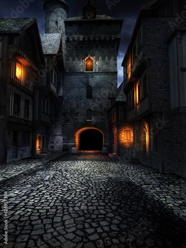 Fototapeta Street in the old town obraz