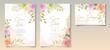 Soft floral wedding invitation template design