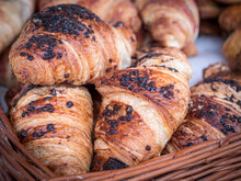 Assorted Organic Artisan Made Chocolate  Croissant On Sale At A Farmers Market