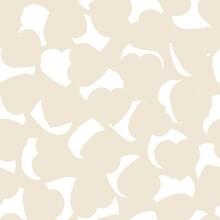 Brown Heart Shaped Brush Stroke Seamless Pattern Background