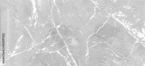 Panorama of White marble tile floor texture and bckground seamless