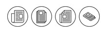 Newspaper Icon Set. News Paper Vector Sign