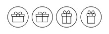 Gift Icon Set. Gift Vector Icon. Birthday Gift