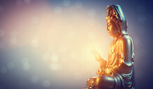 Buddha Statue, Zen Meditation In Yoga