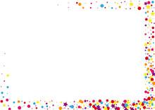 Red Cartoon Circle Illustration. Vector Dot Background. Orange Confetti Stardust Decoration. Christmas Star Illustration.