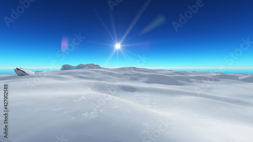 Fotografie, Obraz Ice berg on see 3d render