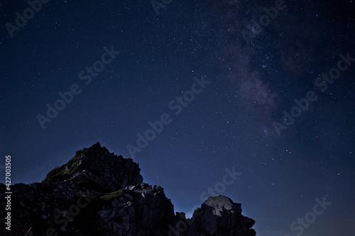 Fototapeta 中央アルプス、木曾駒ヶ岳の登山風景