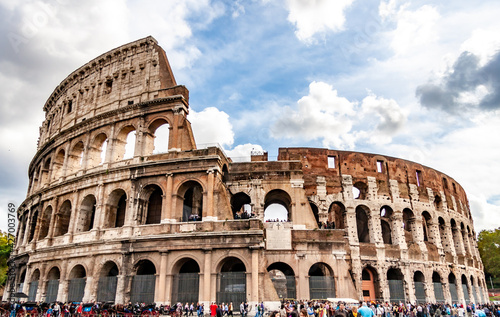 Papel de parede イタリアローマ、古代ローマ建築の傑作 世界遺産コロッセオ