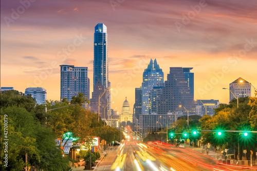 A View of the Skyline Austin - fototapety na wymiar
