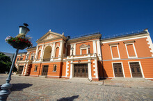 Drama Theater In The Center Of The Old Town Of Klaipeda In Lithuania, On The Baltic Sea