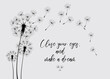 Dandelions on the cream background. Vector dandelion