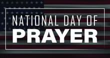 National Day Of Prayer With USA Flag Design Poster.