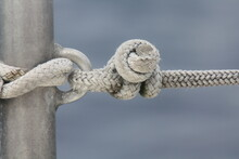 Knotted Rope On Sailing Boat