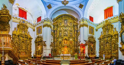 The interior of Santiago Church in Cadiz, Spain Poster Mural XXL