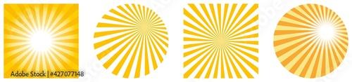 Stampa su Tela Sonne oder Sonnenschein Symbol Vektor rund und als Quadrat