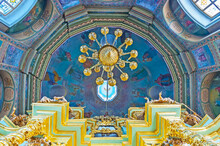 The Dome Of Church Of Smolensk Icon Of Mother Of God, St Sergius, Sergiyev Posad, Russia.