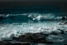 Crashing Waves At Birsay , Orkney