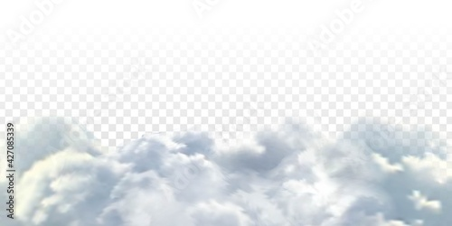 Wallpaper Mural Vector realistic isolated cloud sky for template decoration and covering on the transparent background