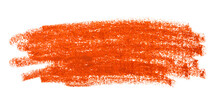 Colourful Brown Oil Pastel Chalk Painted Strokes Or Smear Isolated On White Background