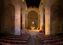 Interior Of The Romanesque Cathedral (Santa Maria Della Purificazione), Termoli, Italy