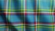 Yukon tartan geometric seamless looped pattern. Canada tartan waving surface motion graphic