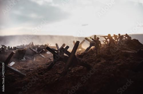 World War 2 reenactment (D-day) Fototapeta