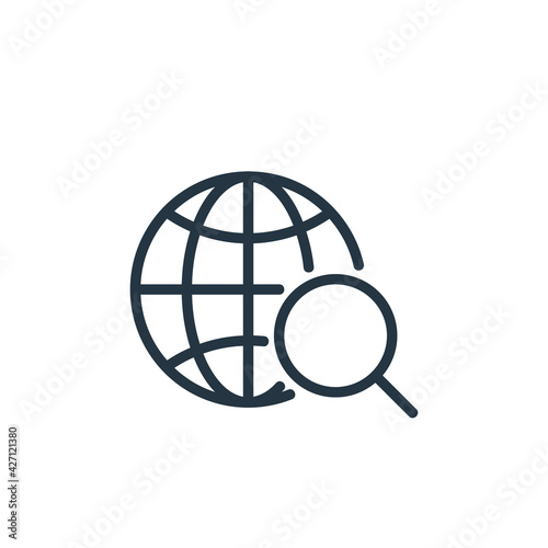 location icon. Thin linear location outline icon isolated on white background. Line vector location sign, symbol for web and mobile.