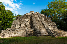 Chacchoben Mayan Ruins In Southern Quintana Roo Province In Mexico.
